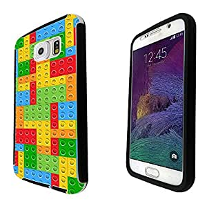 872 - Multi Blocks Logo Fun Print Design Samsung Galaxy Note 4 Full Body CASE With Build in Screen Protector Rubber Defender Shockproof Heavy Duty Builders Protective Cover