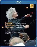 Nutcracker; Le Sacre du Printemps; Piano Concerto No. 3: Rattle conducts Tchaikovsky, Stravinsky & Rachmaninov [Blu-ray]