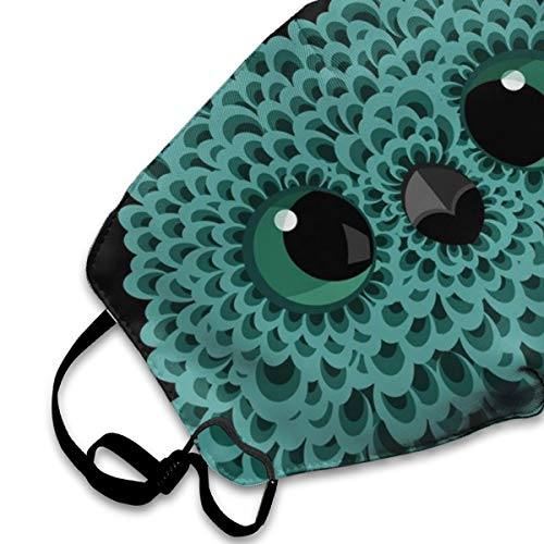 Abstract Owl Print Dust Mask, Reusable Washable Mouth Masks, Adjustable Warm Face Mask Unique Cover Filters Blocking Pollen Pollution Germs