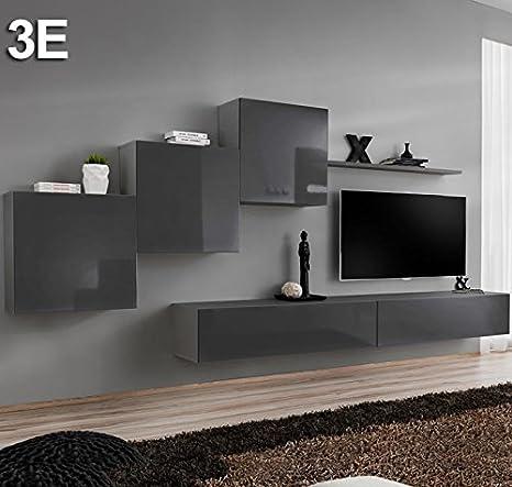 Conjunto Muebles de salón Berit Colgante Gris Modelo 3 E ...