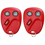 KeylessOption Keyless Entry Remote Control Car Key Fob Replacement for LHJ011-Red (Pack of 2)