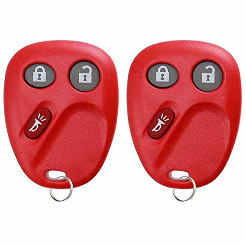 KeylessOption Keyless Entry Remote Control Car Key Fob Replacement for LHJ011-Red (Pack of 2) by KeylessOption