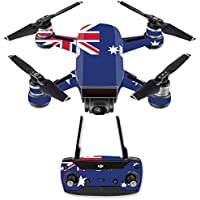 Skin for DJI Spark Mini Drone Combo - Australian Flag| MightySkins Protective, Durable, and Unique Vinyl Decal wrap cover | Easy To Apply, Remove, and Change Styles | Made in the USA
