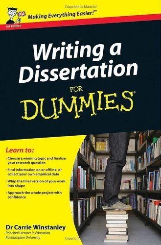 Writing a Dissertation For Dummies by Winstanley, Carrie (2009) Paperback