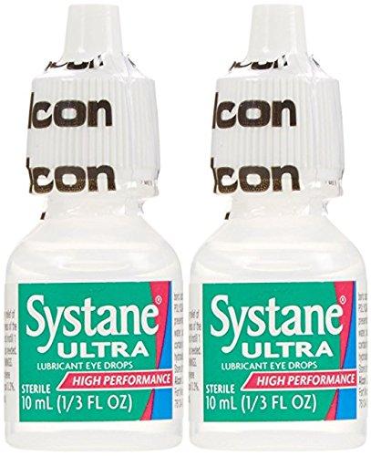 Systane Ultra Lubricant Eye Drops, 2-count .33 fl oz (10 ...
