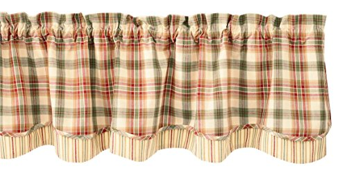 Park Designs Lemon Pepper Layer Valance, 72 x 16