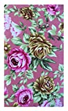 Home & Kitchen Beige Roses Cotton Guest Check Presenter for Restaurant, Checkbook Holder, Waitstaff Organizer, Server Book for Waiter with Money Pocket / With Plastic Cover