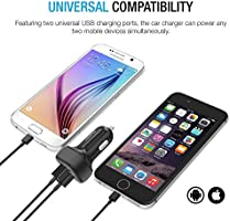 ivoler 24W / 4.8A Cargador de Coche USB Dual-Port, Adaptador ...