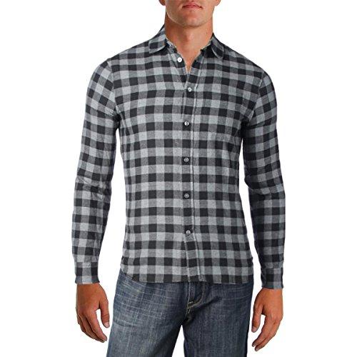 Marc by Marc Jacobs Men's Lucas Check Shirt, Grey Melange, - Men Marc Shirts Jacobs
