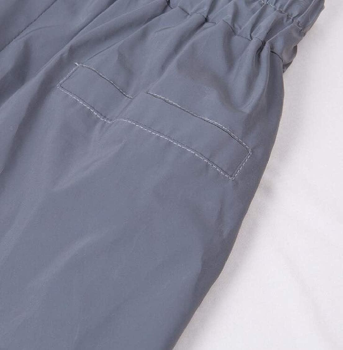 M/&S/&W Women Flash Reflective Jogger Hip Hop Harem Pants Elastic Waist Sweatpants
