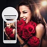 LinkStyle Selfie Light, Linkstyle Selfie Ring Light Rechargeable 36 LEDs 3 Level Brightness for iPhone 7/7 Plus 6/6 Plus 6S/6S Plus 5S SE Samsung Galaxy S8/S8 Plus S7 S6 Edge