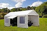 SORARA Carport 10 x 20 ft Heavy Duty Canopy Garage Car Shelter with Windows and Sidewalls