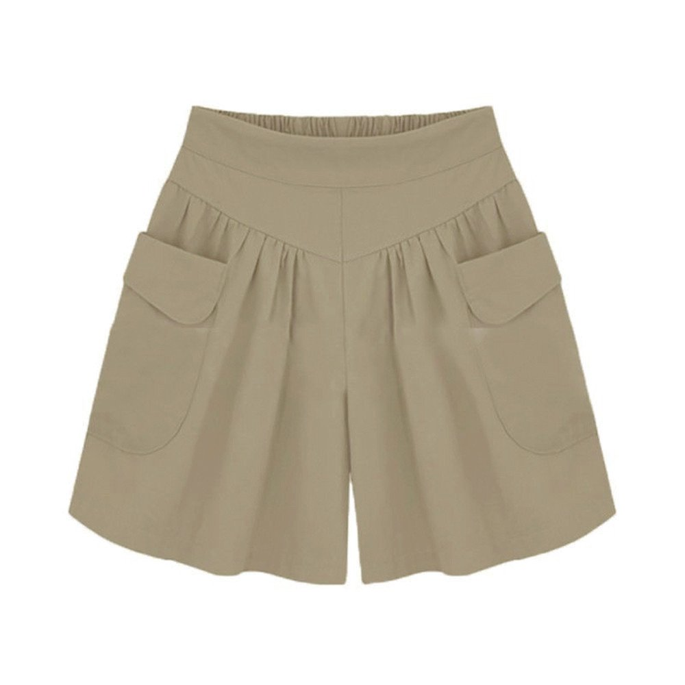 Shorts Damen Sommer Kurze Hosen Hohe Taille Hot Pants Lose Beach Stoff Short Hosenrock Shorts