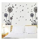 perfect dandelion wall decals  Dandelions and Butterflies Flying in The Wind Wall Decals, Living Room Bedroom