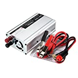Electrical Equipment & Supplies Power Inverter - 1500W 12V To 220V Solar Power Inverter Modified Sine Wave Converter (Silver) - 1 x Solar inverters, 1 x Car charger cable, 1 x Electrical cable
