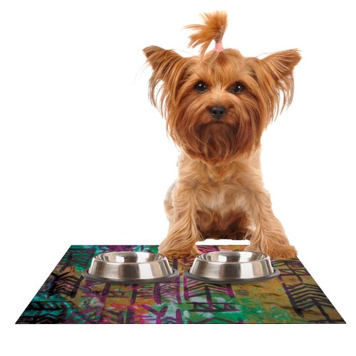 Kess InHouse Theresa Giolzetti Quiver IV  Feeding Mat for Pet Bowl, 18 by 13-Inch