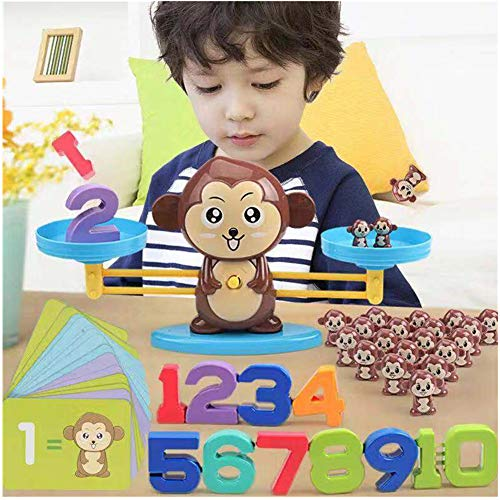 Seplegend Boys & Girls Monkey Balance Cool Math Game Fun Learning, Educational Toy Gift for Children & Kids Ages 3+ (65-Piece Set) (Monkey) from Seplegend