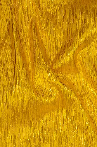 Yellow Gold Metallic Shantung Silk Fabric