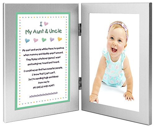 Gift for Uncle and Aunt, Sweet Poem From Niece or Nephew, 4x6 Frames - Add Photo by Poetry Gifts