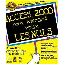 Access 2000 pour Windows