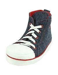 Forfoot Men's Winter Warm Hi-Top Indoor House Anti-Slip Sneaker Slippers Christmas Gift
