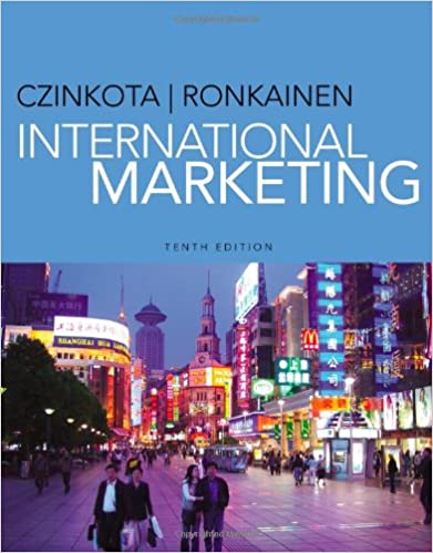 International Marketing by A.Ronkainen and Michael R. Czinkota