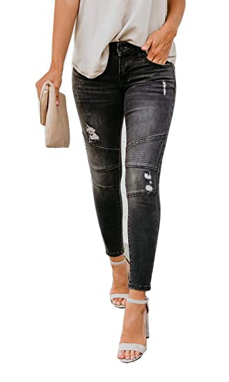 best sell exquisite style amazing quality Women's High Rise Destroyed Ripped Butt Lift Stretch Denim ...