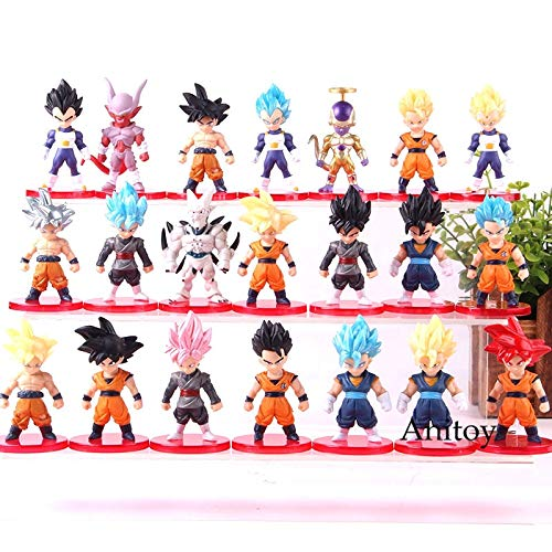 (Dragon Ball Goku Anime Figure Son Goku Vegeta Frieza Vegetto Action Figure PVC Collection Model Toy 21Pcs/Set -Complete Series Merchandise - Legends Gifts Movies Comic Toys)