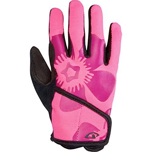 (Giro DND Jr. II Gloves - Kids' Bright Pink Flower, M)