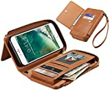 Best Cash Compartments For IPhones - Eloiro iPhone 7 PU Leather Case, Multi-functional Retro Review