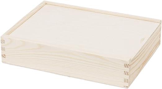 Foto caja fotográfico 21 x 28 cm tapa deslizante Caja Madera Caja ...