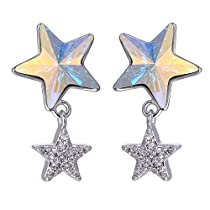 Xuping Cyber Monday Luxury Crystals from Swarovski Women Star Stud Earrings Jewelry Gifts with Box