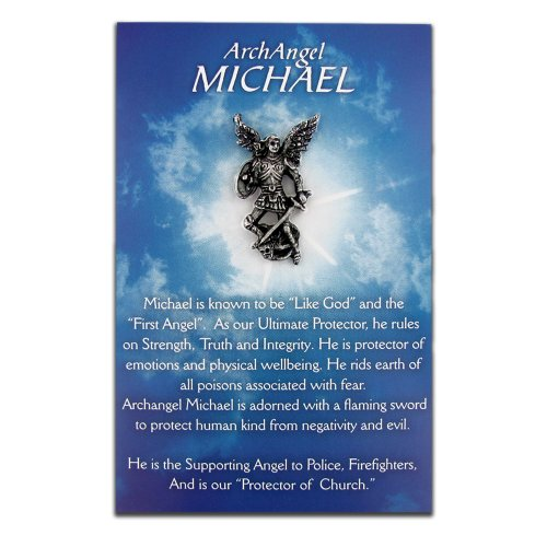 PinMart's Michael The Archangel Our Protector Lapel Pin and Card