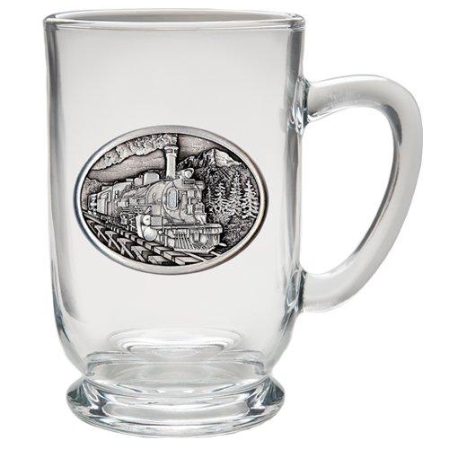 1pc, Pewter Train Coffee Mug, Clear