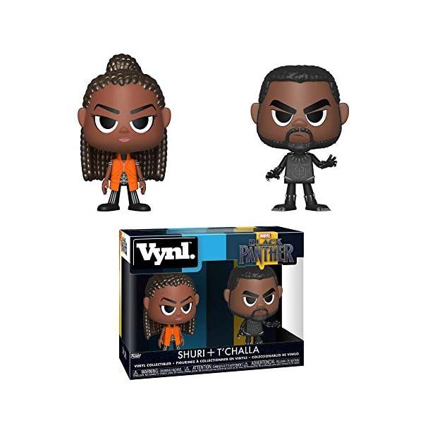 51JXLFObNwL Funko 34967 Vynl: Black PantherShuri & T'challa, Multicolor
