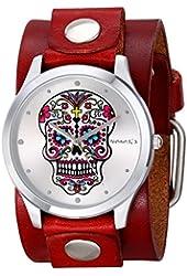 Nemesis Women's 925RGB Sugar Skull Series Analog Display Japanese Quartz Red Watch