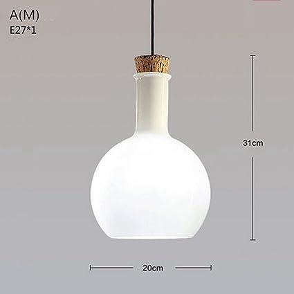 Lámparas FLH Nordic país de América mágica botella de araña blanca de laboratorio lámpara de cristal