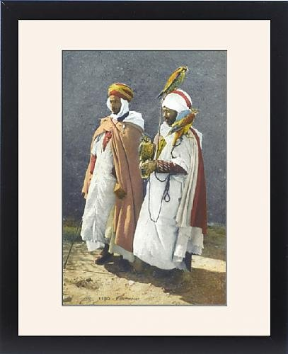 Framed Print of Two Arab Falconers from Saudi Arabia by Prints Prints Prints