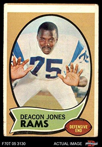 1970 Topps # 125 Deacon Jones Los Angeles Rams (Football Card) Dean's Cards 2 - GOOD Rams