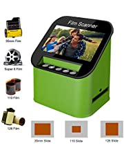 $129 » Film Scanner with 22MP High Resolution Slide Scanner Converts 35mm, 110 & 126 and Super 8 Films, Slides and Negatives to JPEG Includes 4.3 Inch TFT LCD Display