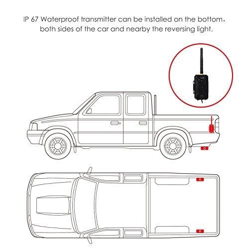 auto-vox m1w wireless backup camera kit ip 68 waterproof led