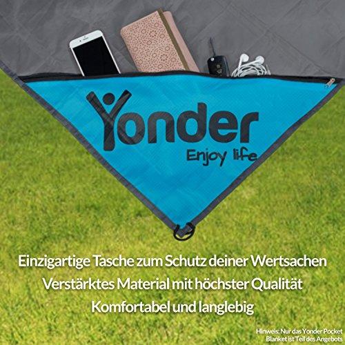 Yonder Premium pocket Blanket–ultraleichte & 100% impermeabile coperta da picnic/spiaggia coperta con tasche Zip Stello–Ideale per Viaggi, Campeggio & Festival–�?anni di garanzia