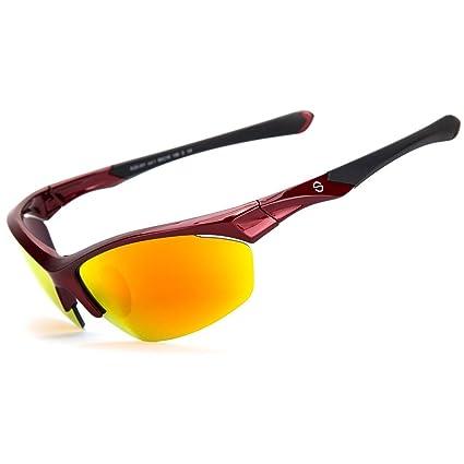 b705cf024f8 Shieldo Sports Mirrored Sunglasses for Men and Women Running Cycling Glasses