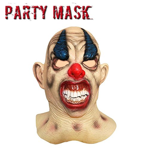 Monstleo Latex Scary Halloween Clown Mask horror Circus Clown Full Head Mask (Killer Masks)