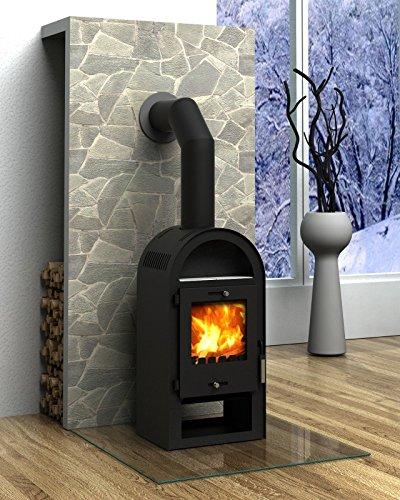 Kaminofen Rundbogen 7 kW Wärmeleistung Kamin Heizofen Kohleofen