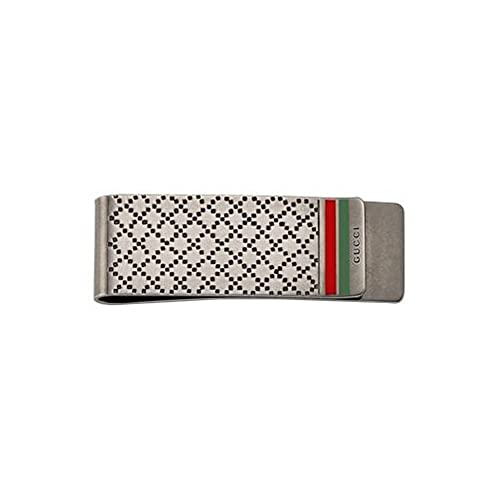 GUCCI money clip with diamond pattern silver YBF325948001 ...