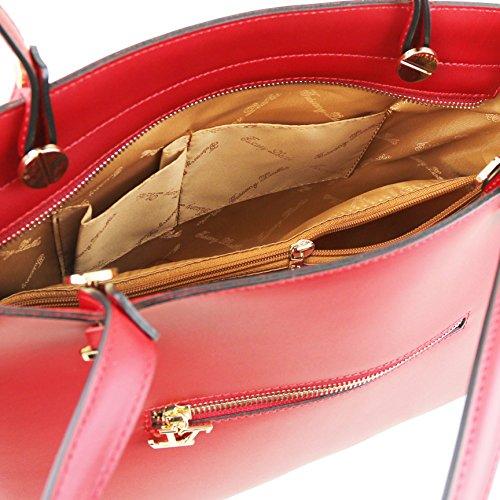 81415224 - TUSCANY LEATHER: ATENA - Sac cabas en cuir Ruga, rouge