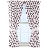 NCAA Mississippi State Bulldogs ''Mascot'' Window Curtain Panels - Set of 2 - 36'' x 48''