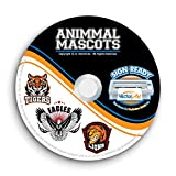 Animal Sports Mascot Clipart-Vector Clip Art Images-T-Shirt Template Design Graphics CD
