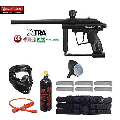 MAddog Spyder XTRA Titanium Paintball Gun Package - Black